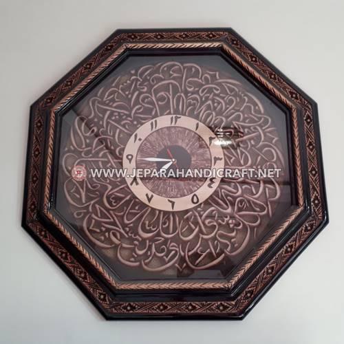 Jam Dinding Kaligrafi Ayat Kursi Prowolon Terbaru