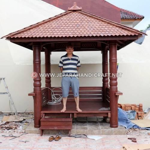 Jual Gazebo Kayu Kelapa Alfa 2 x 2 Meter Murah