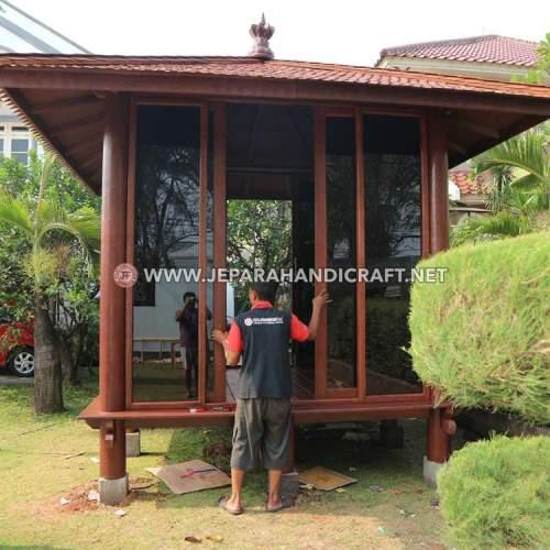 Jual Gazebo Rumah Kayu Kelapa Modern Jepara
