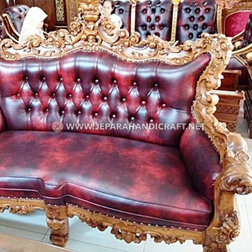 Exclusive Set Sofa Tamu Ukir Mewah Barcelona Terpercaya