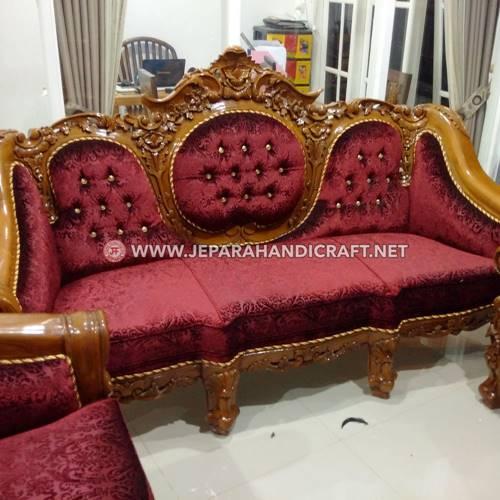 Jual Set Sofa Tamu Ukir Mewah Ganesha Mawar Berkualitas