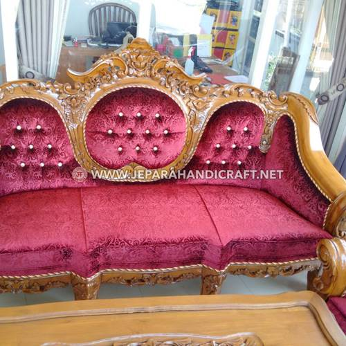 Jual Set Sofa Tamu Ukir Mewah Ganesha Mawar Kualitas Terbaik