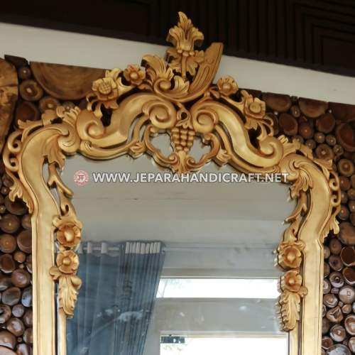 Jual Cermin Dinding Mewah Ika Ukir Jepara