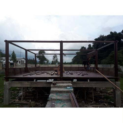 Jual Gazebo Kolam Kayu Kelapa Super 8 x 8 Meter Jepara