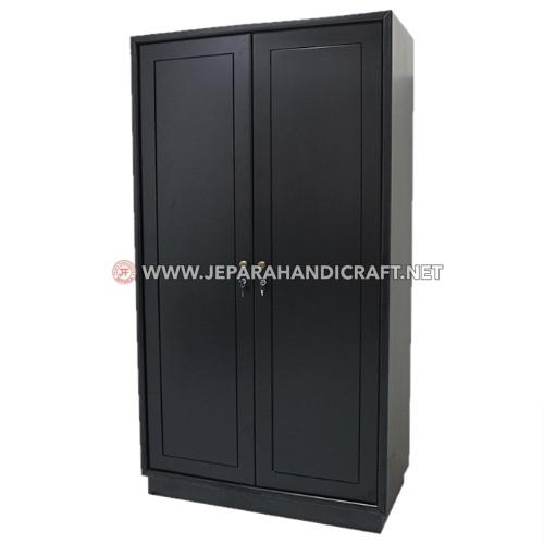 Jual Lemari Pakaian Jati Minimalis Black Marva Jepara Murah