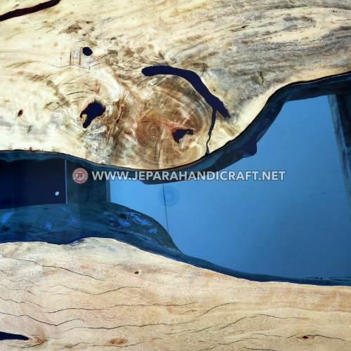 Jual Meja Tamu Minimalis River Flow Stainless Murah