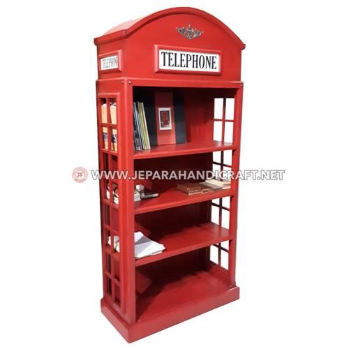 Jual Lemari Rak Buku Classic British Telephone Terbaru