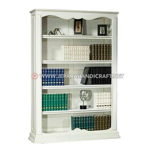Jual Rak Buku Classic Style White Duco Berkualitas