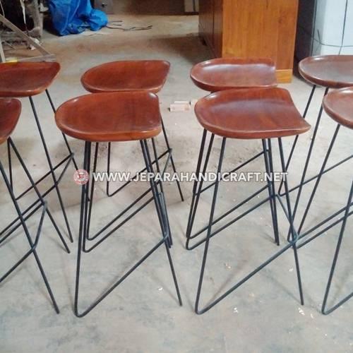 Jual Meja Kursi Bar Cafe Jati Minimalis Industrial Jepara