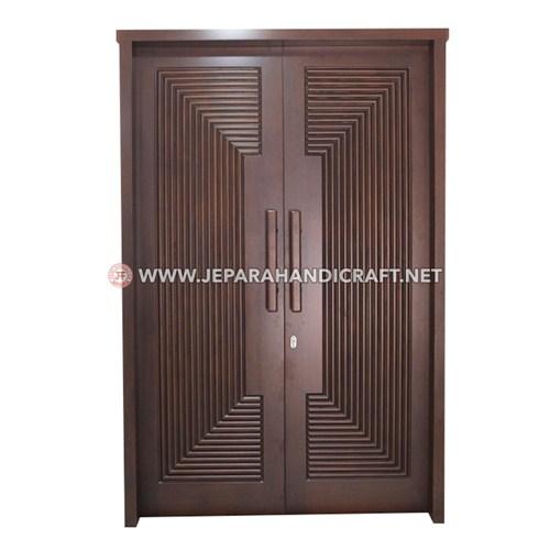 Jual Pintu Rumah Kayu Jati Minimalis Amira Jepara Murah