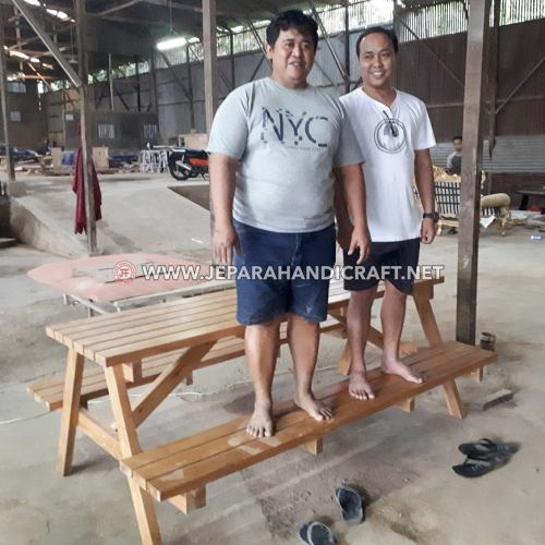 Project Meja Makan Jati Outdoor Palembang