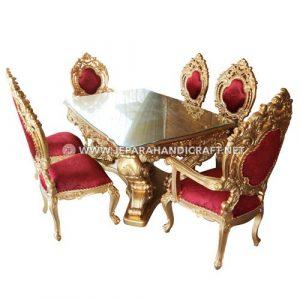 Jual Set Meja Makan Mewah Klasik Minerva Jepara Murah