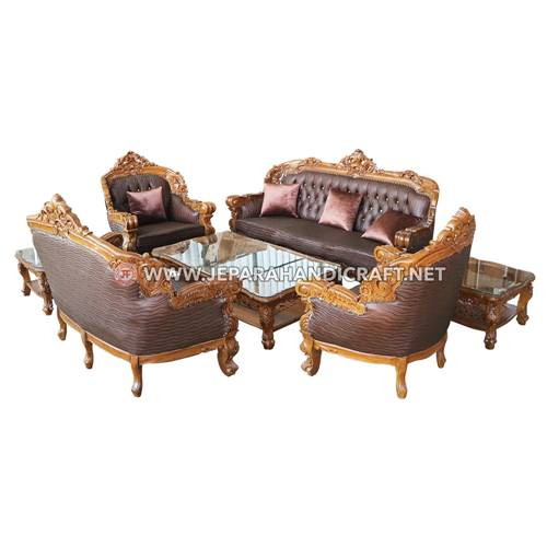Jual Set Sofa Tamu Mewah Mercurio Jepara Berkualitas