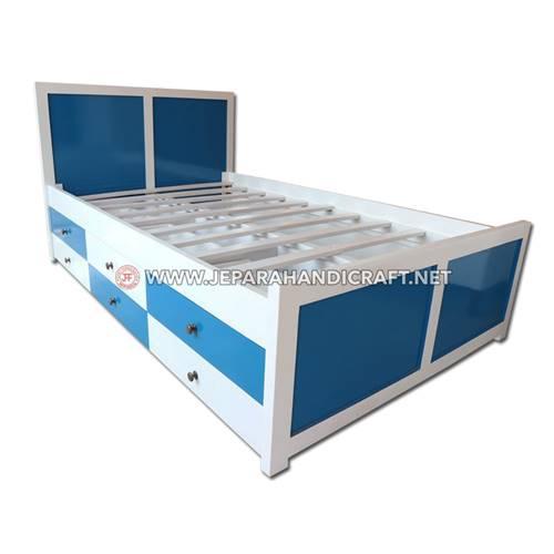 Jual Tempat Tidur Anak Minimalis Duco Laci Berkualitas