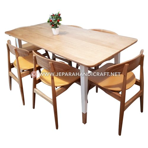 Jul Set Meja Kursi Cafe Restoran Jati Minimalis Jepara Murah