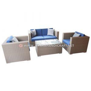 Jual Set Sofa Rotan Sintetis Minimalis Azura Jepara Harga Murah