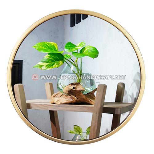 Jual Cermin Dinding Bulat Hias Minimalis Gold Harga Murah