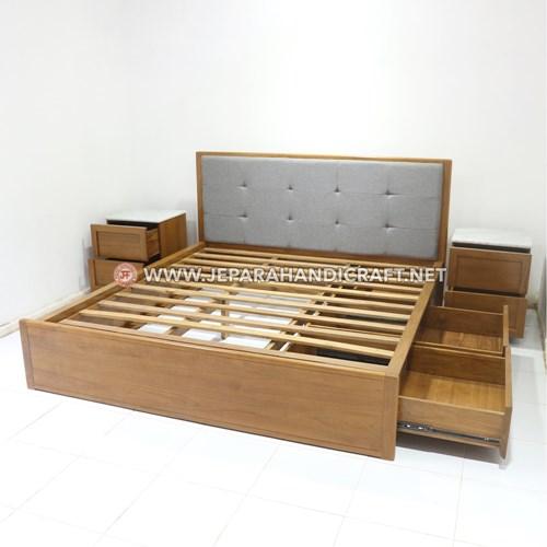 Jual Tempat Tidur Laci Minimalis Vero Jepara Murah