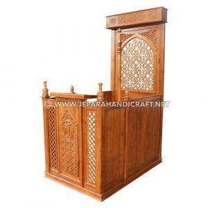 Jual Mimbar Masjid Ukir Ibrahim Kayu Jati Jepara Harga Murah