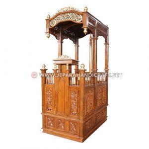 Jual Mimbar Masjid Ukiran Kayu Jati Hafiz Jepara Murah