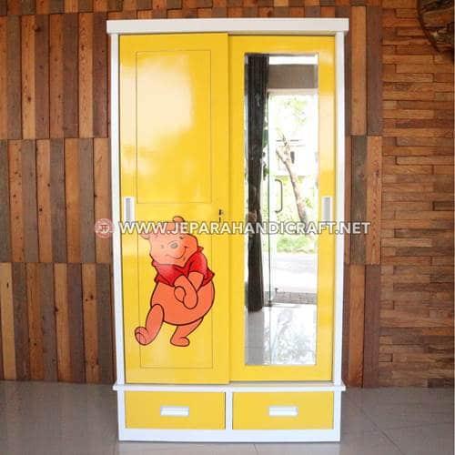 Jual Lemari Anak Minimalis 2 Pintu Jepara Murah