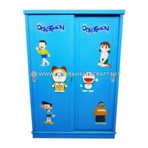 Jual Lemari Pakaian Anak Karakter Doraemon 2 Pintu Harga Murah