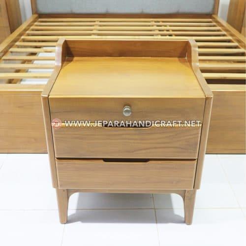 Jual Bedside Kayu Jati Minimalis Vero Jepara Murah