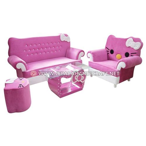 Jual Sofa Karakter Hello Kitty Jepara Harga Murah