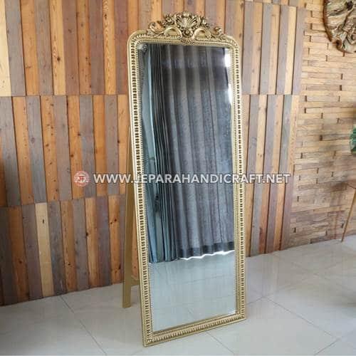 Jual Cermin Standing Ukiran Alessia Jepara Murah