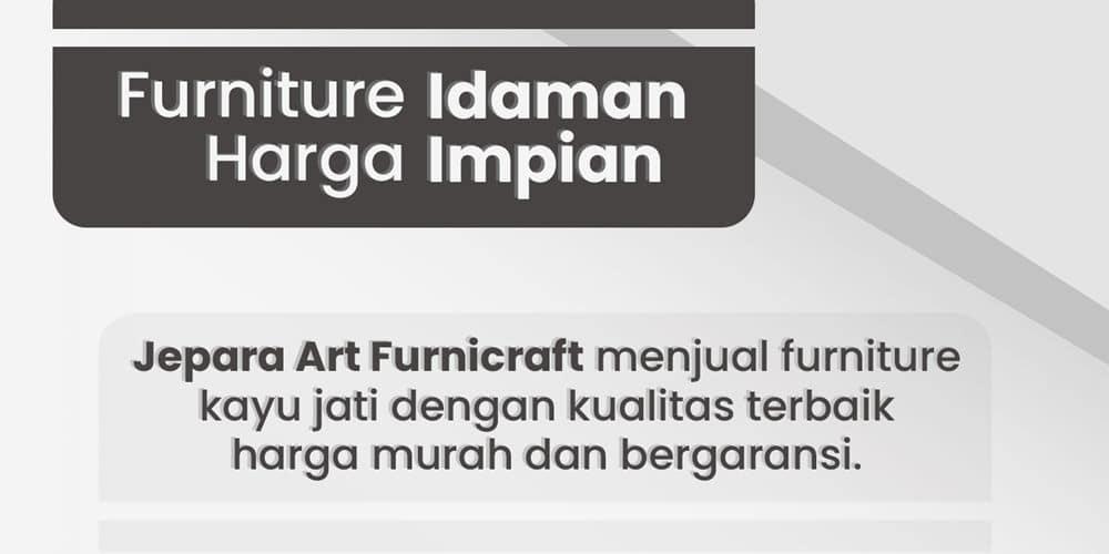 Furniture Jati Jepara Harga Murah