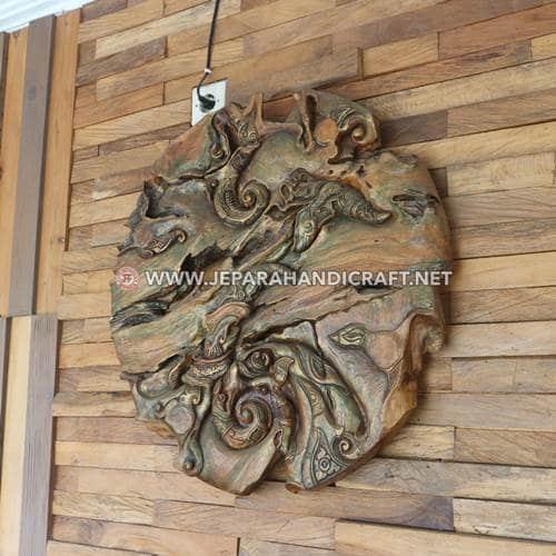 Jual Dekorasi Dinding Jati Art Abstract Harga Murah