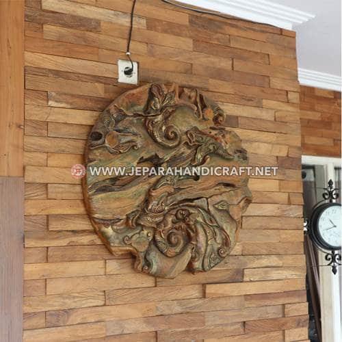 Jual Hiasan Dinding Art Abstract Jati Jepara Murah
