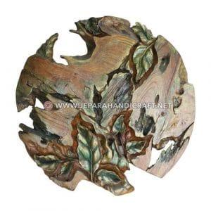 Jual Wall Decor Jati Ukiran Leaf Abstract Jepara Terbaru
