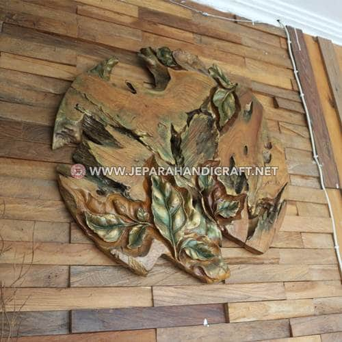 Jual Dekorasi Dinding Ukiran Leaf Abstract Murah